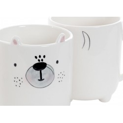 Mug porcelaine Licone, Chien , chat
